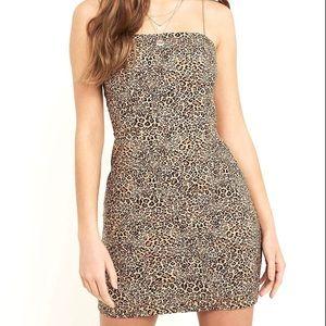 Urban Outfitters Leopard Bodycon Mini Dress